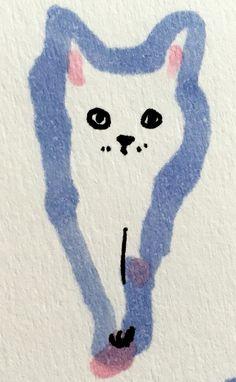 Kitten by Marie Åhfeldt, Mås Illustra. www.masillustra.se #kitten #cat #illustration #drawing #masillustra Cute Paintings, Art Addiction, Cute Cats And Dogs, Cat Party, Creepy Cute, Lost Art, Pattern Illustration, Cat Drawing, Crazy Cats