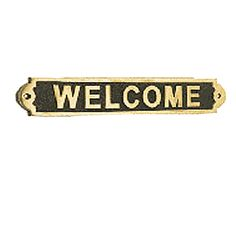 <PRE>Solid Brass Sign WELCOME Polished Plaques </PRE>