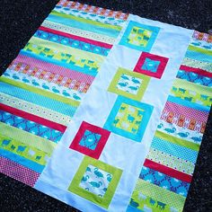 Modern Whimsy quilt top complete by kelbysews, via Flickr