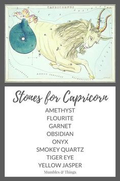 When the sun is in Capricorn (from December 21st - January 20th), the energies of Capricorn are at work. Here is a list of 12 crystals that work to enhance the strengths and help you overcome the challenges of the Capricorn energy. If your sun sign is not Capricorn, these stones are still useful. The zodiac energy of each sign surrounds all of us based on the time of the year.