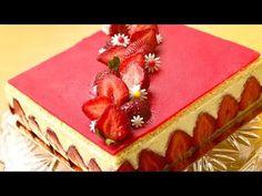 La recette du fraisier avec crème mousseline inratable - YouTube Banana Foster, Bolo Ferrero Rocher, Fudge, Fancy Cakes, Biscuits, Parfait, Panna Cotta, Bakery, Cheesecake