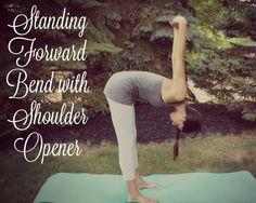 Forward bend with shoulder opener