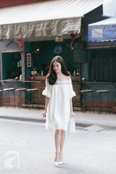 68 Ideas dress white short teen fashion street styles for 2019 Cute Fashion, Girl Fashion, Fashion Dresses, Korea Fashion, Asian Fashion, Girly Outfits, Chic Outfits, Dresses For Pregnant Women, Prom Party Dresses