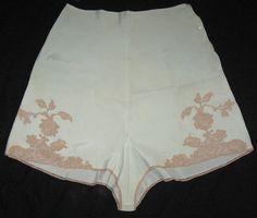 1940s Rayon Lace Tap Pants