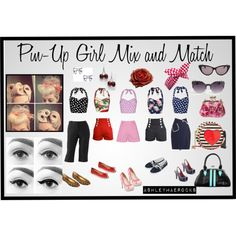 Pin-Up Girl Mix and Match for Summer by ashleymaerocks on Polyvore