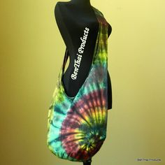 Tie Dye Crossbody Bag Purse Buddha Hobo Hippie Sling Messenger