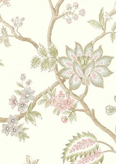 Lewis  Wood Indienne: Mallow wide 52 inch wallpaper
