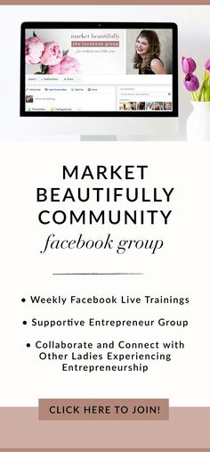 Join the free Facebook group for lady entrepreneurs who want to learn more about working smarter in their business through social media marketing and automating the process of sales and booking services! My goal is for EVERY lady entrepreneur to meet their monthly income goals. I want you to succeed. I want you to LOVE what you wake up and get to do everyday. I would love to meet you so get your cute booty in the Market Beautifully Facebook group so we can meet and I can learn more about…