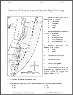 Printables 9th Grade Social Studies Worksheets printable maps the ojays and keys on pinterest ancient palestine map worksheet for grades 4 6 ccss geographysocial studies