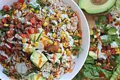 Easy Vegan Burrito Bowl - Raw Till Whenever.  Better with hot sauce