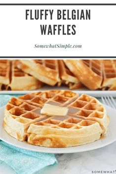 waffle recipe Homemade Belgian waffles are perfectly golden and crispy on the outside but the insides are soft, fluffy and amazingly delicious! Made from scratch using a few simple ingredients, this waffle recipe is the best youll find. Waffle Recipe No Milk, Easy Belgian Waffle Recipe, Best Waffle Recipe, Waffle Maker Recipes, Waffle Recipe From Scratch, Breakfast Recipes, Pancake Recipes, Mexican Breakfast, Sweets