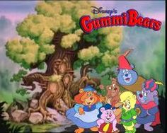 """Gummi Bears cartoon catchiest theme song ever! """"Gummy Bears bouncing here and there and everywhere.  High adventure that's beyond compare.  We are the Gummy Bears!"""""""