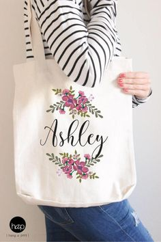 Bridesmaids, flowergirl or even the mother of the bride/groom will love it. This Personalized Bridesmaid Bag will be a special gift for your crew on your big day. They can carry their wedding-day essentials and then use it for the beach, travel, work, etc. Have it personalized to make an