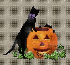 黒猫の図案(季節もの) | Atelier Daisy                                                                                                                                                     もっと見る