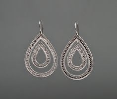 Double Drop Earrings by Anna Beck - Silverscape Designs