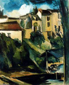 Maurice de Vlaminck (1876-1958) was een Frans kunstschilder. Hij is een belangrijk vertegenwoordiger van het fauvisme. In 1905 sloot hij zich met Matisse en Derain aan bij Les Fauves (de wilden). Dynamische lijnvoering en felle kleuren waren kenmerken van zijn werk. Al in 1908 keerde hij zich af van het fauvisme en begon op impressionistische wijze te werken. Vanaf 1918 kwamen er weer meer expressionistische elementen in zijn werk