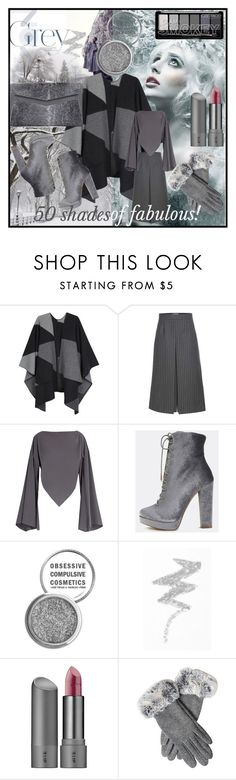 """50 shades of fabulous!"" by pennylanefashion ❤ liked on Polyvore featuring Johnstons, Yves Saint Laurent, Balenciaga, Obsessive Compulsive Cosmetics, NYX, Bite and J. Mendel"