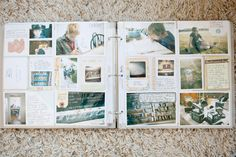 Don't be scared to use a large 4×6 pocket as a home for two photos… not just a 4×6.  Or do half of it a photo and half journaling.