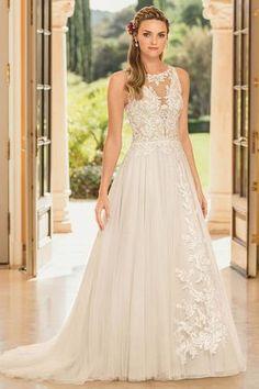 Weddings & Events Obliging Amanda Novias A-line Cap Sleeve Lace Applique Pearls Shining Low Cut Sexy Wedding Dress Attractive Designs;