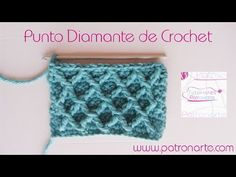 Punto Diamante de Crochet - Ganchillo - YouTube