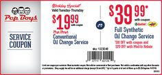 oil change coupons sears 2014