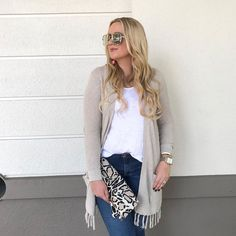 YES to weekends & to the cutest tassel cardigan ever! It's on sale for under $35 right now it also comes in gray!! I am in love. Do you all love tassels as much as I do?!?  outfit details are linked in my bio and with @liketoknow.it here: http://liketk.it/2srIh #liketkit #LTKunder50 #LTKsalealert #LTKitbag