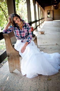 yes! plaid wedding dress