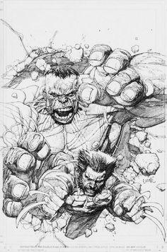 Wolverine & Hulk | Leinil Francis Yu