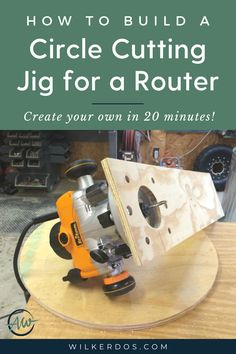 Quick and Easy Circle Cutting Jig for a Router - Wilker Do's Woodworking Finishes, Woodworking Jig Plans, Woodworking Basics, Cool Woodworking Projects, Woodworking Essentials, Woodworking Techniques, Woodworking Furniture, Diy Router, Router Jig