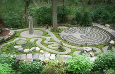 Meditation garden - this may be a bit too involved, but I like the idea.