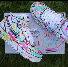 Cute Nike Shoes, Nike Air Shoes, Sneakers Nike, Jordan Shoes Girls, Girls Shoes, Custom Painted Shoes, Swag Shoes, Aesthetic Shoes, Fresh Shoes