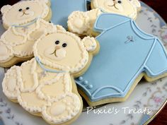 Baptism teddy bears and onsies   Flickr - Photo Sharing!