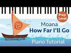 How Far I'll Go (Moana) - Prep Level Super Easy Piano Tutorial - Hoffman Academy - YouTube