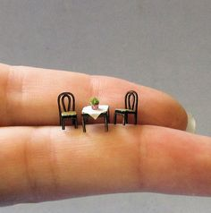 1/144th inch scale miniatureCafe Table with by sdkminiatures, $15.00