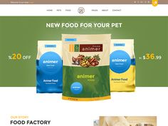 Animer - Pet Food eCommerce Bootstrap Template by DevItems LLC