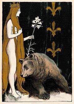 """songesoleil: """" Rein Märchen. Jugend magazine. 21 Januar. 1899. Art by Franz Hein.(1863-1927). """""""