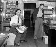 Ward Kimball and Walt Disney visit Henry Ford's Greenfield Village in Dearborn, Michigan, August 1948