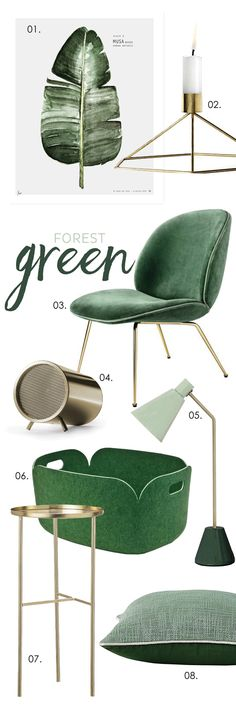Green, forest. Adore Home magazine - Blog