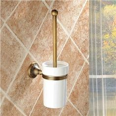 WC Bürstenhalter Antik Messing Badzubehör
