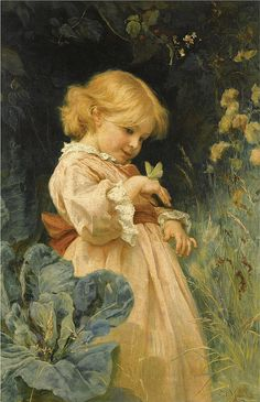 "Frederick Morgan (1847-1927), ""The butterfly"" by sofi01, via Flickr"