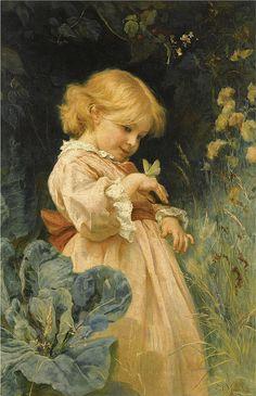 "Frederick Morgan (1847-1927), ""The butterfly"" by sofi01, via Flickr"