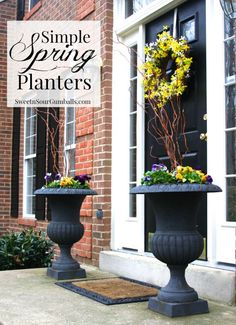 Spring Planters with Pansies
