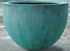 Urbis Design Globe Planter in Verdigris for Main garden