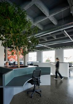 Exposed Trusses, Best Workplace, Concrete Column, Community Housing, Digital Footprint, Intelligent Design, Co Working, Coworking Space, Office Interiors