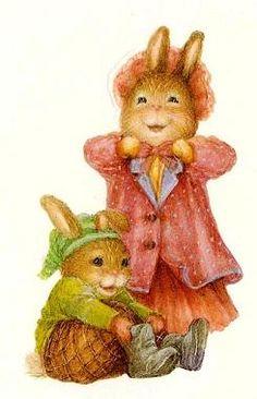 By Susan Wheeler Susan Wheeler, Beatrix Potter, Christmas Illustration, Cute Illustration, Bunny Painting, Rabbit Art, Bunny Art, Little Critter, Whimsical Art