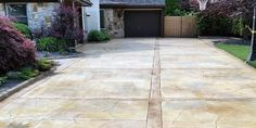 From simplistic entrances to high-end mansion constructions, discover the top 50 best concrete driveway ideas. Modern Driveway, Diy Driveway, Driveway Design, Driveway Landscaping, Driveway Ideas, Landscaping Ideas, Front Yard Decor, Modern Front Yard, Front Yard Design