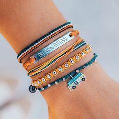 Pura Vida Bracelets®: Founded in Costa Rica - Handmade Bracelets Summer Bracelets, Cute Bracelets, Summer Jewelry, Handmade Bracelets, Beaded Bracelets, Ankle Bracelets, Leather Bracelets, Cute Jewelry, Jewelry Accessories
