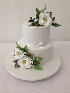 Delicate elegant and simple perfect way to describe this cake , by handi's cakes