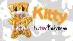 Kitty Cat Charm/Mini Figurine Rainbow Loom Tutorial Rainbow Loom Tutorials, Rainbow Loom Patterns, Rainbow Loom Creations, Rainbow Loom Bands, Rainbow Loom Charms, Rainbow Loom Bracelets, Rainbow Loom Animals, Loom Bands Tutorial, Rubber Band Crafts