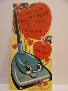 Vintage 1940s Valentine Card with Sucker Insert Kids in Boat E